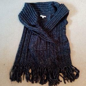 CAbi Chunky Fringed Sweater Vest Sz S